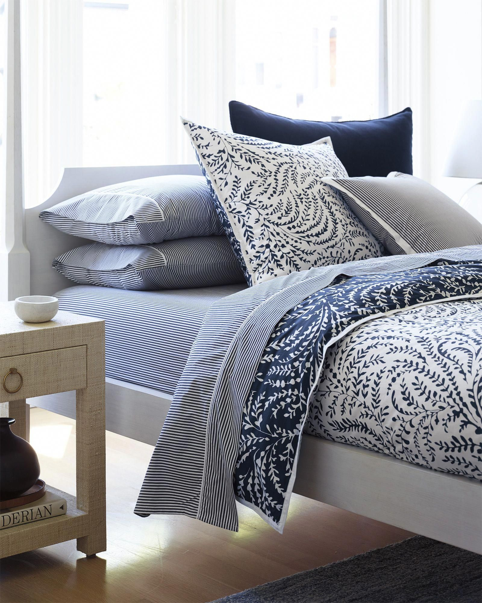 Layers of blue priano duvet cover via serena lily