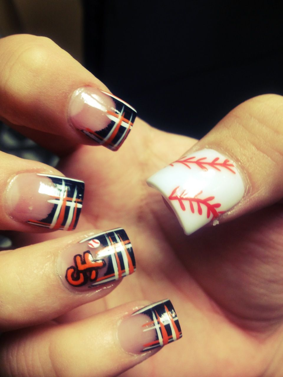 SF giants nails- nails by Dusty | Dusty | Pinterest | Sf giants ...