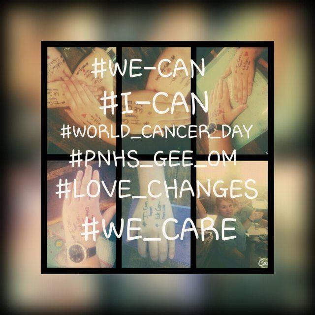 #PNHSGEEOM .. #WORLDCANCERDAY #WECANICAN by chanteels
