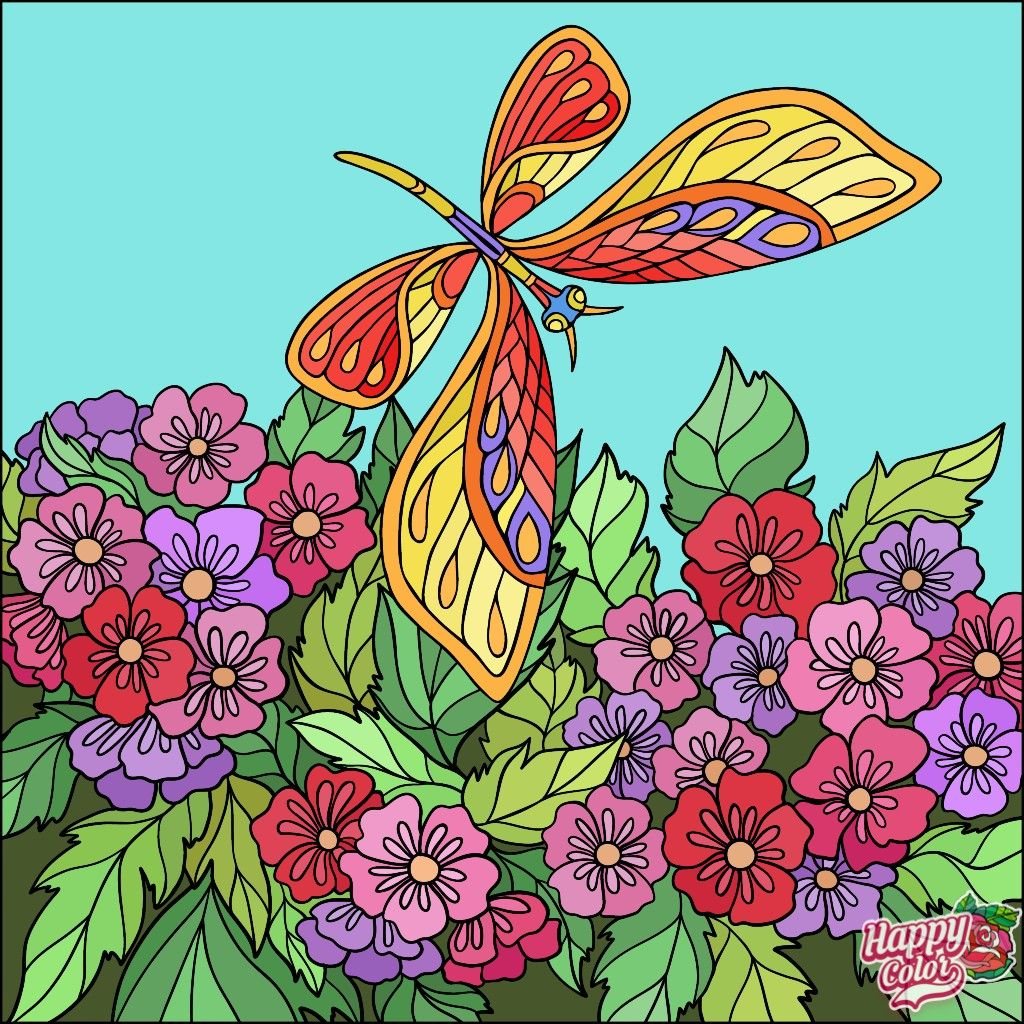 Pin By Rusty Warren On Coloring Book App Colorful Art Coloring Book App Happy Colors