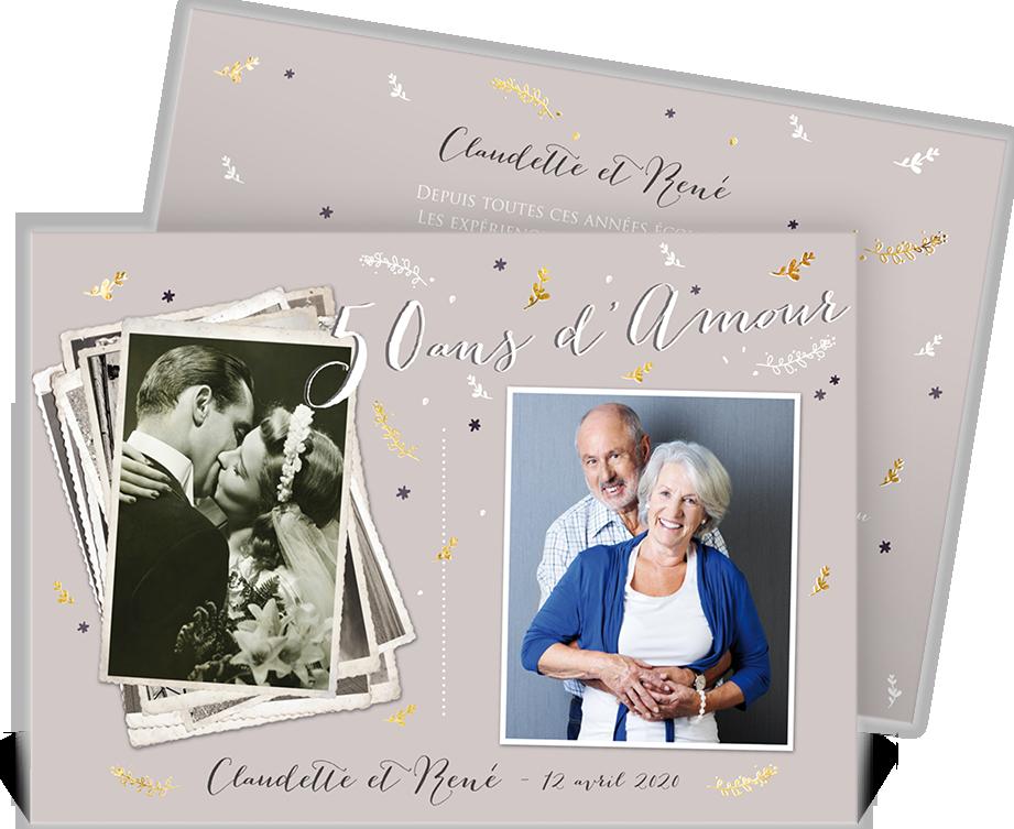 Invitation Anniversaire De Mariage Pour Fêter Ensemble Vos