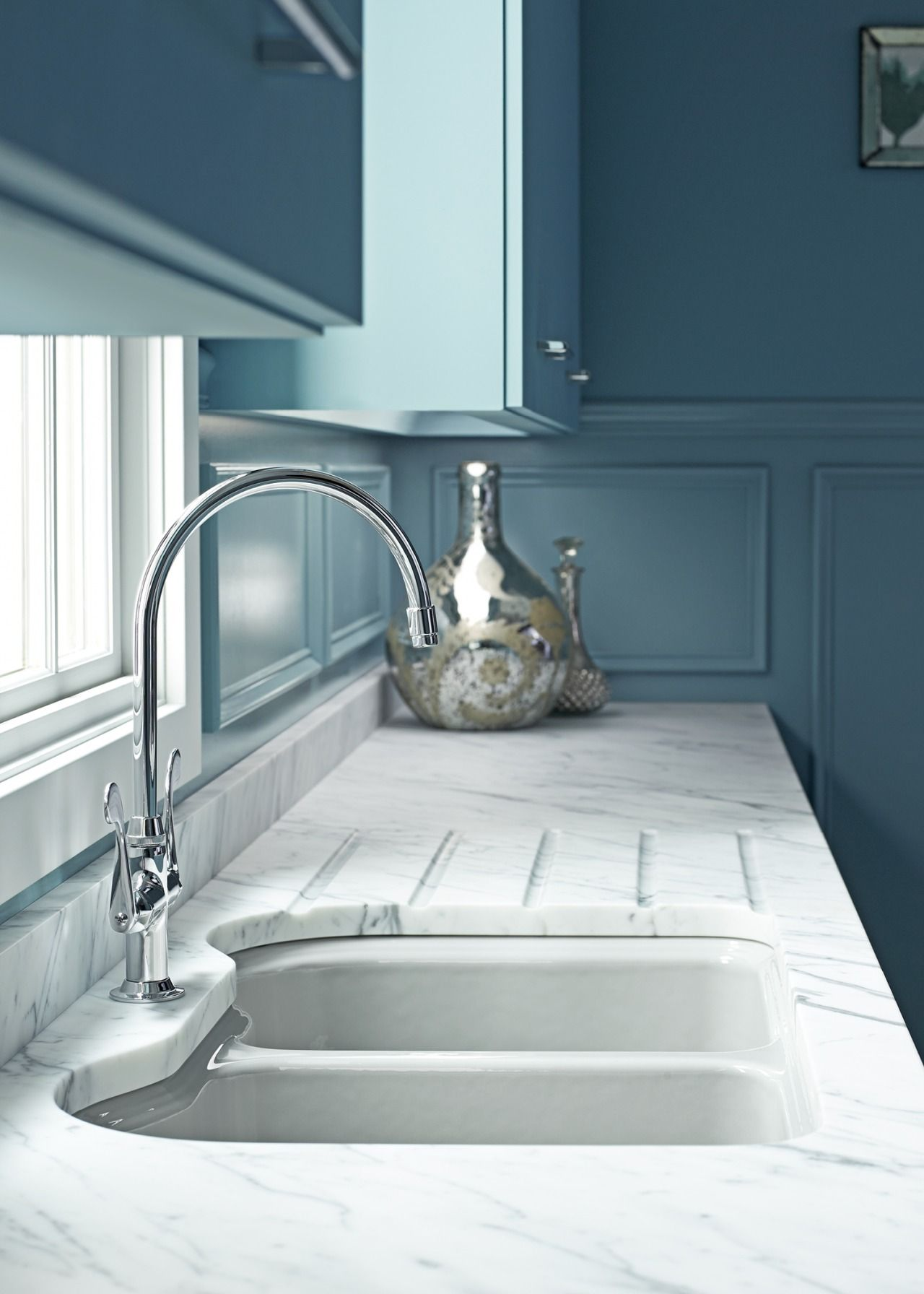 Grooves in counter for better water drainage | Cottonwood kitchen ...