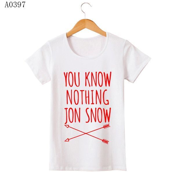 Game Of Thrones T Shirt Winter Is Coming You Know Nothing TShirts MEN Jon Snow Print Men T-Shirt O Neck Cotton Man Tees