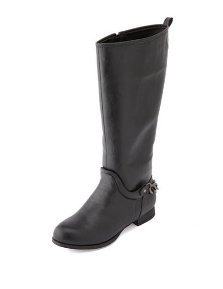 81b293a7d Chain Back Flat Riding Boot  Charlotte Russe