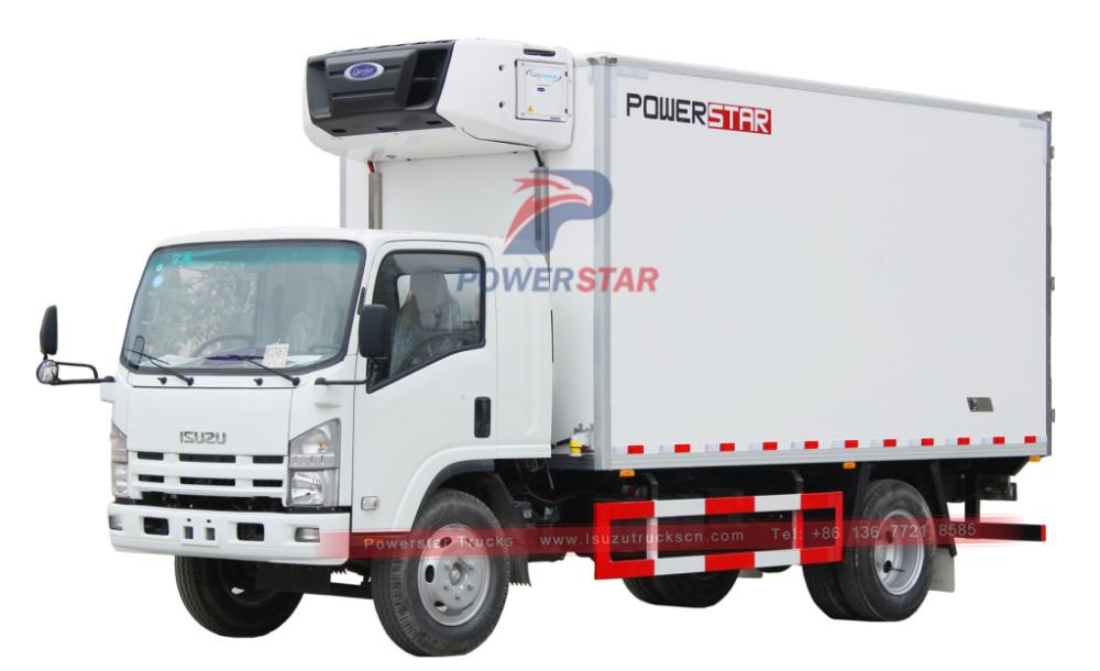 Isuzu 700p Npr Refrigerated Cooling Van Truck Trucks Cool Vans Truck Design