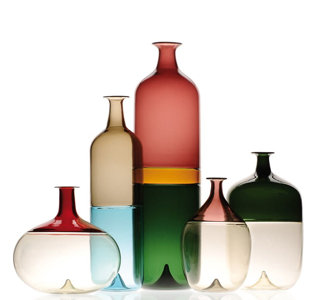 Venini Bolle Collection Transitional Midcentury Modern Glass Decorative Object By Kneen Co Modern Decorative Objects Bottle Glass Blowing