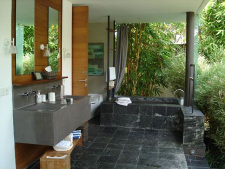 Semi Outdoor Bathroom Anyone Outdoor Bathrooms Bathroom Plans Outdoor Baths