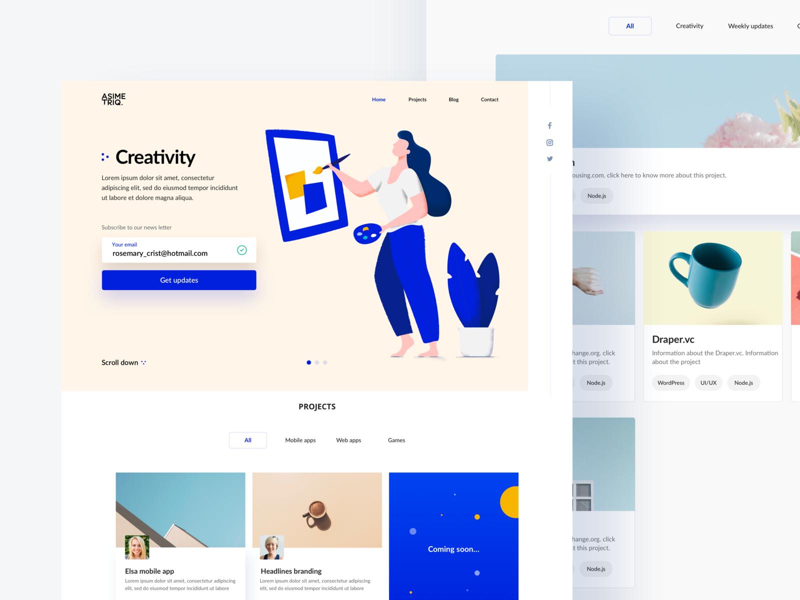 Landing Page 웹디자인 웹사이트