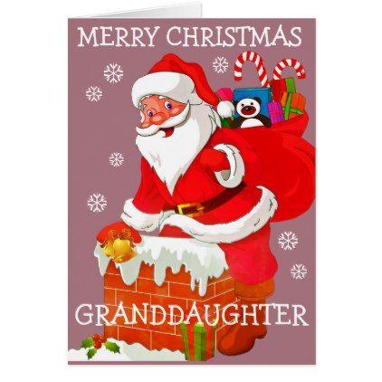 Granddaughter Christmas Card Chim Xmas Christmaseve Christmas