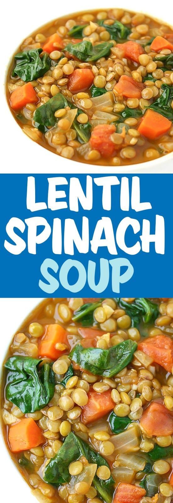 Linsenspinatsuppe -  #linsenspinatsuppe #healthyweeknightmeals