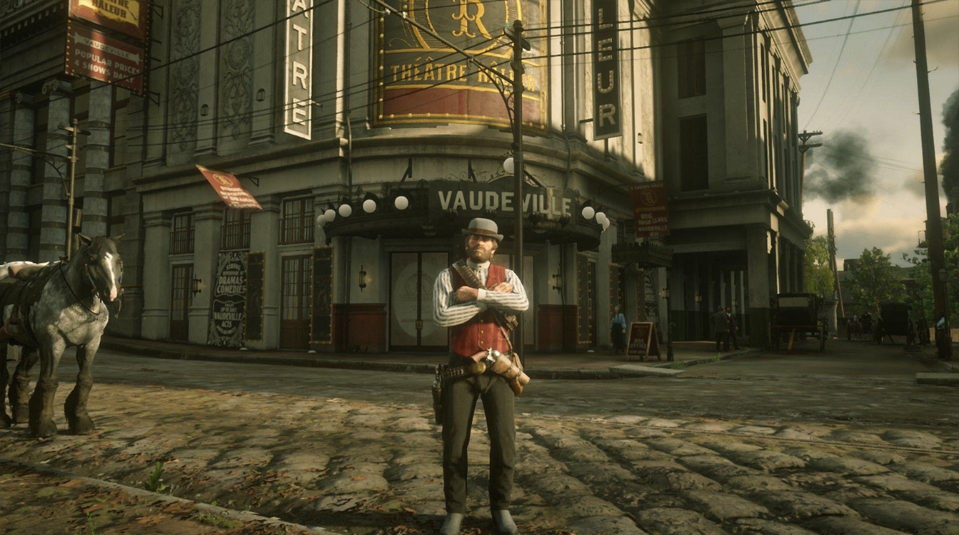 Red Dead Redemption 2 Xbox One Einrib13 Arthur Morgan In Saint Denis Bayou Nwa Lemoyne Red Dead Redemption Ii Red Dead Redemption Red Dead Redemption 1
