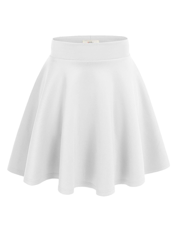 Simlu Womens Skater Skirt, A Line Flared Skirt Reg amp; Plus Size Skater Skirts USA #flaredskirt