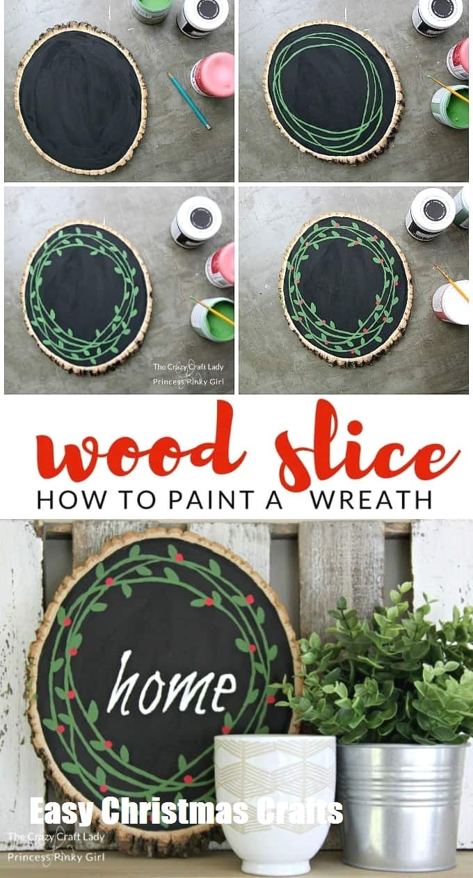 Fun And Easy Christmas Crafts To Make #weihnachtenholz