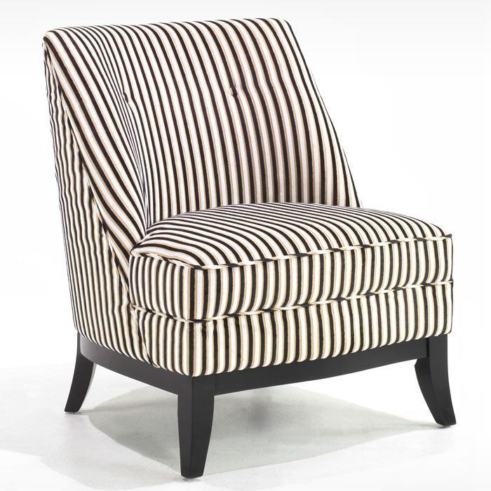Best Jester Armless Club Chair Black And Brown Tuxedo Stripe 400 x 300