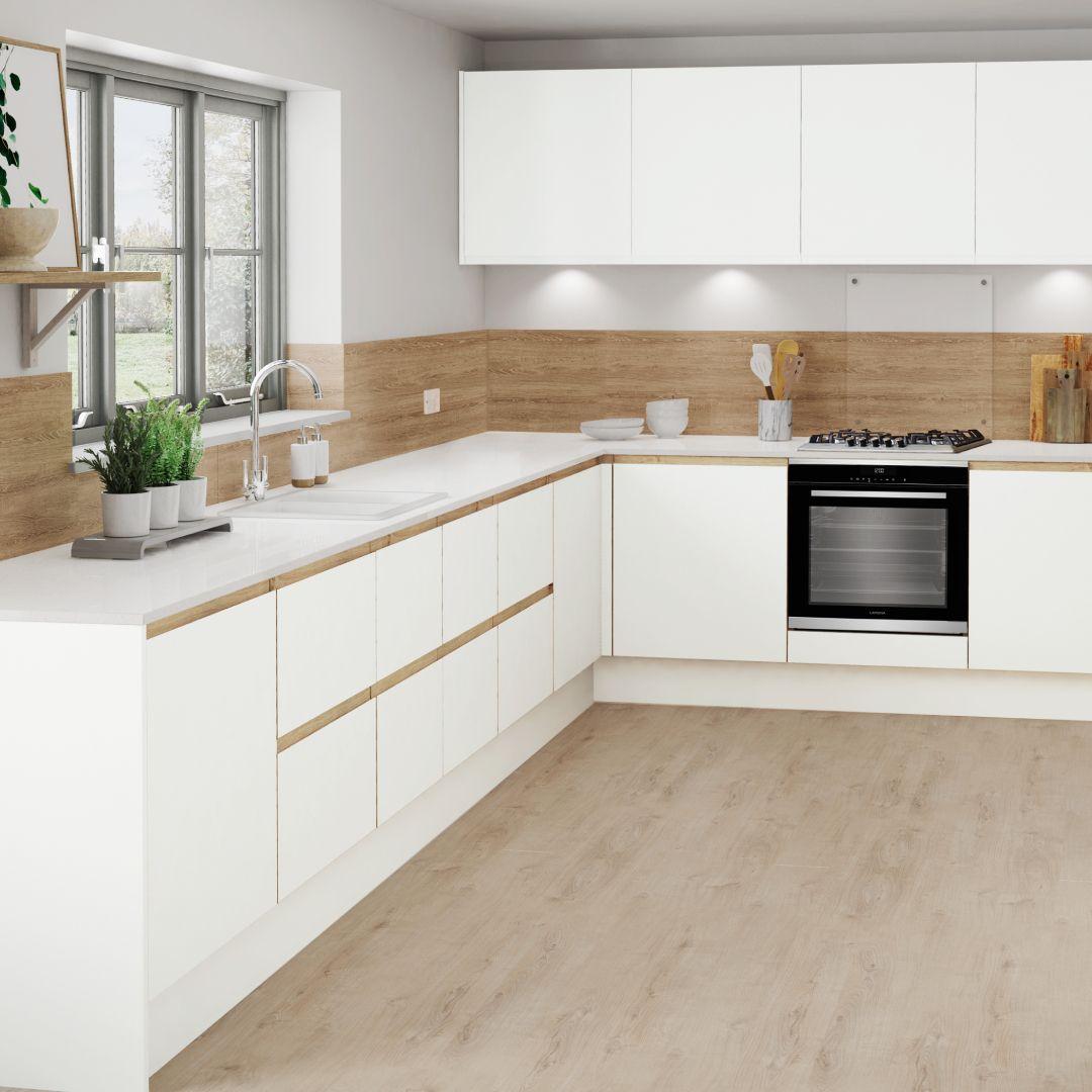 Oak Trim Cabinets White Kitchen Oak Trim Modern Kitchen Design Kitchen Design