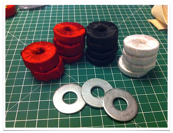 I am sure many of you sewers have seen these before…. however for me – this is new and exciting! Pattern weights! Pattern weights are used to replace the use of pins when cutting out yo…