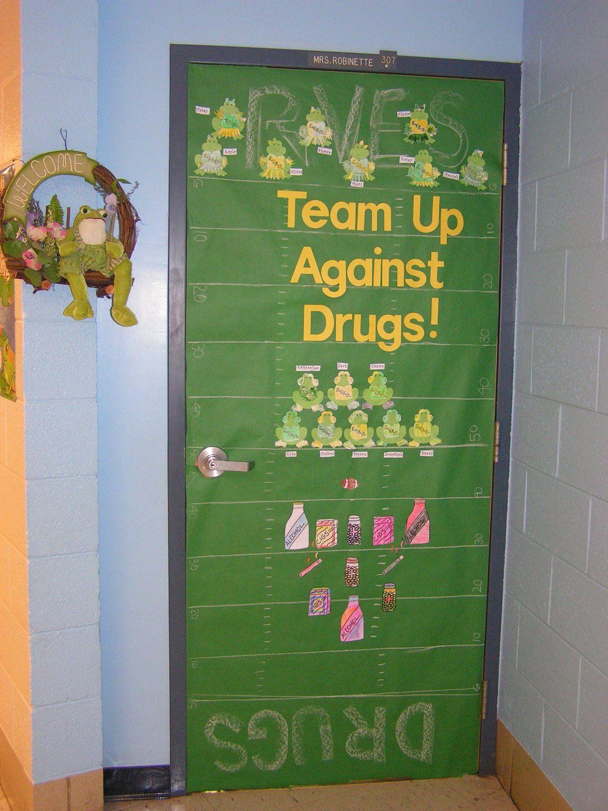 drug+door.jpg (image) Red ribbon week, Red ribbon, Class