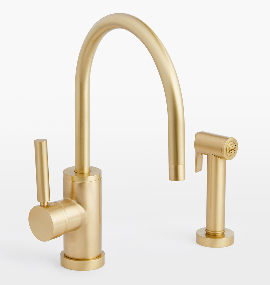 Coos Bay Single Hole Kitchen Faucet With Sprayer Rejuvenation Single Hole Kitchen Faucet Kitchen Faucet With Sprayer Kitchen Faucet Kitchen faucet with highest flow rate