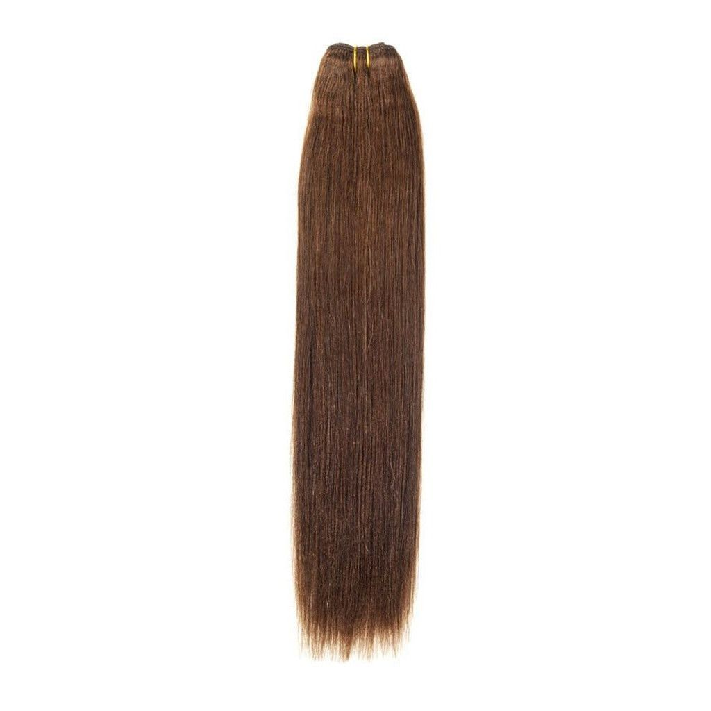 Euro Silky Weave Human Hair Extensions 22 Inch Colour 4 Brown