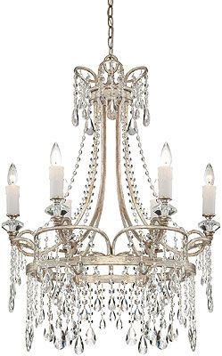 Swedish Style Chandelier With Crystal Icicles With Images