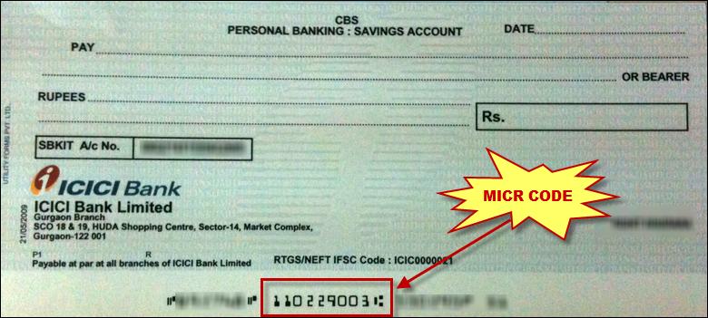 IFSC MICR RTGS SWIFT Coding, Icici bank, Savings account