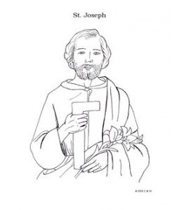 St Joseph Coloring Page Catholic Kids Crafts Catholic Coloring