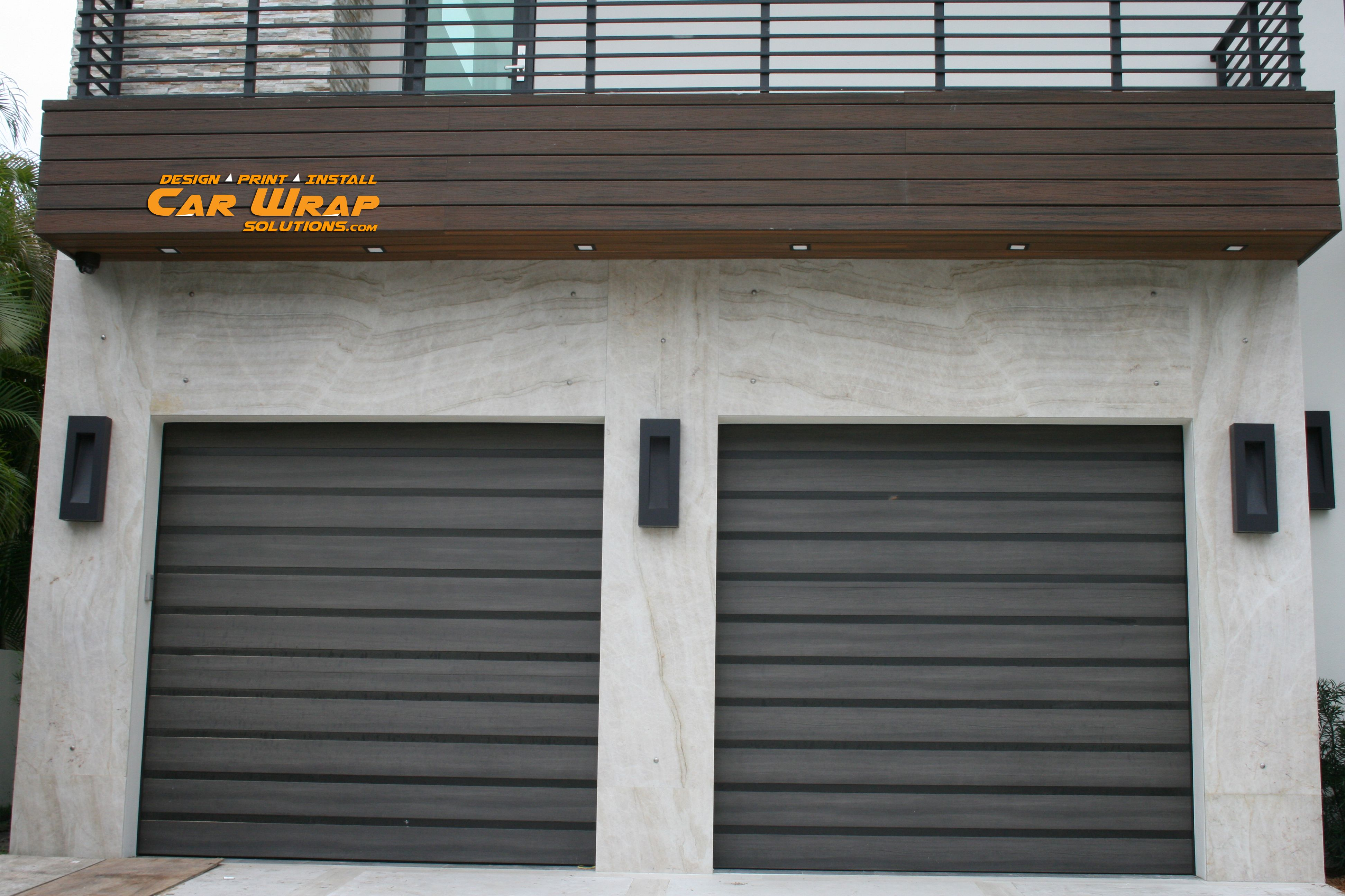 Good Garage Wraps #4: 3M Di Noc Custom Wood Grain Vinyl Wraps For Garage Doors In Fort Lauderdale  Florida Http