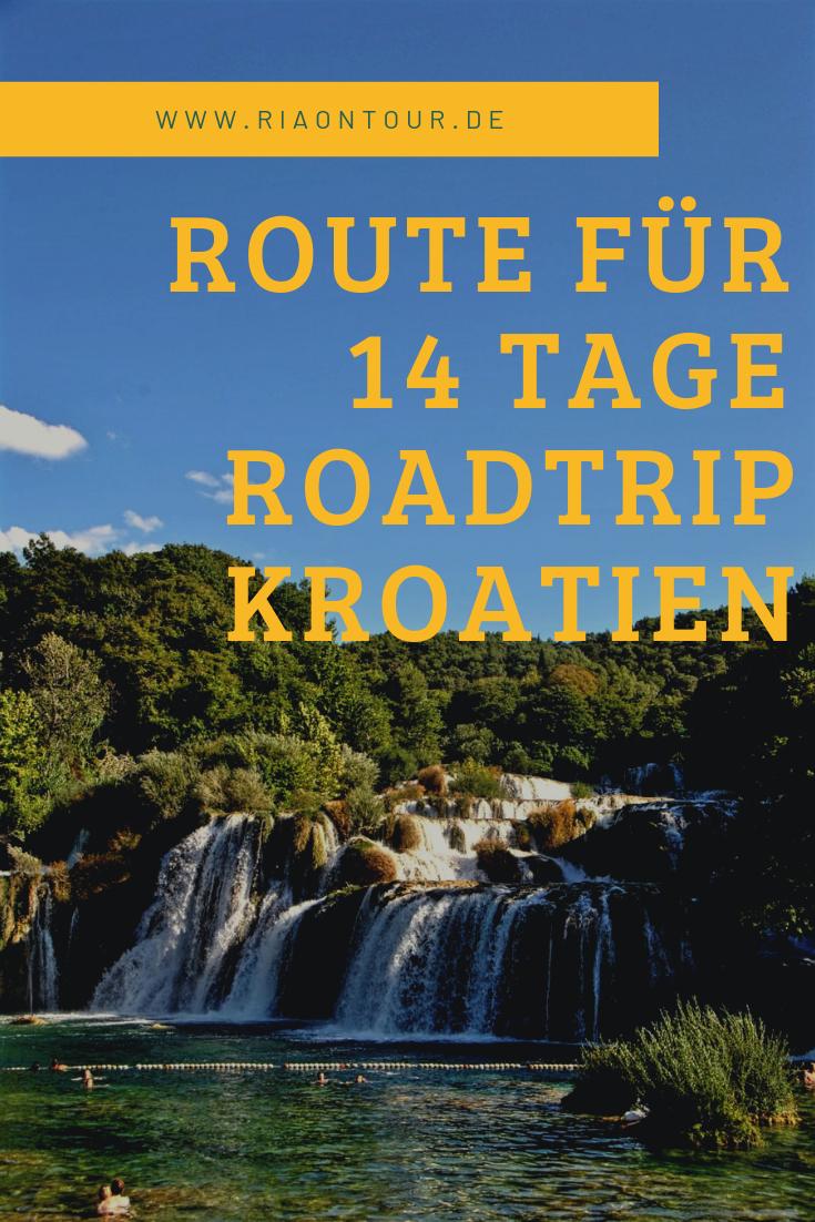 Kroatien Roadtrip Route für 18 Tage   Kroatien reisen, Kroatien ...