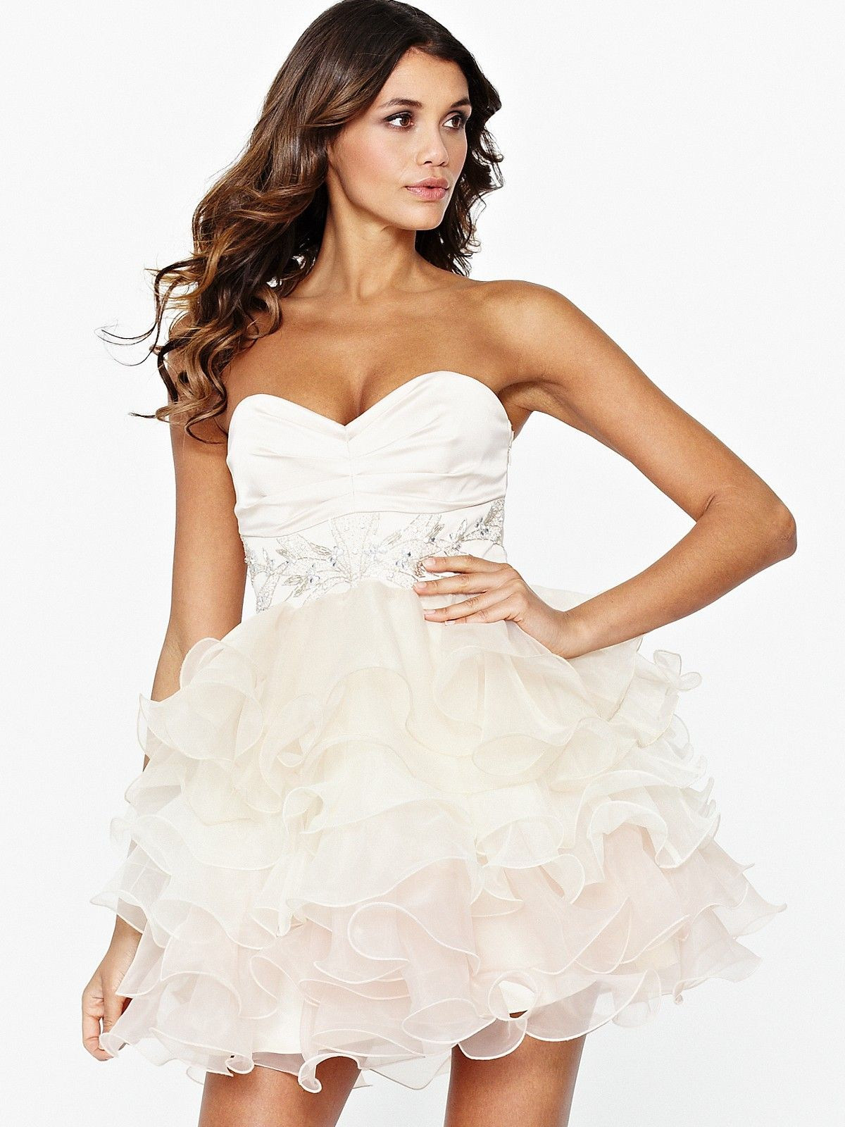 Lipsy vip dip dye strapless prom dress dresses