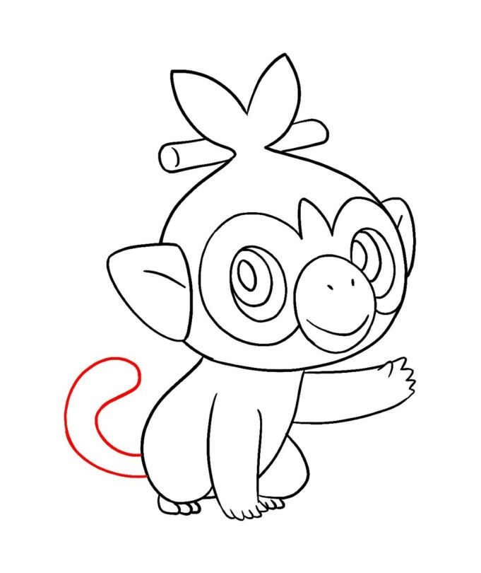 How To Draw Grookey Pokemon Draw Central Drawings Happy Drawing Pokemon