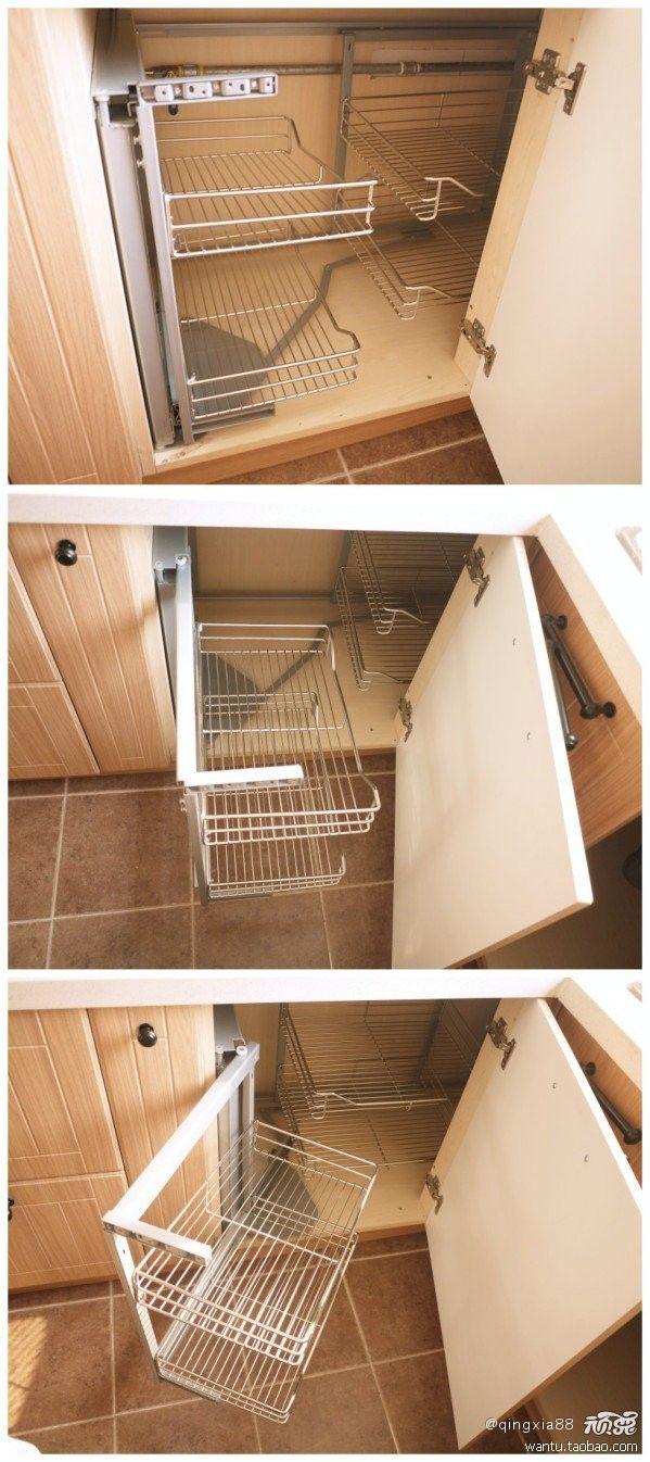 Organize Deep Corner Kitchen Cabinet Organizing Deep Corner Kitchen Cabinets (With images) | Kitchen