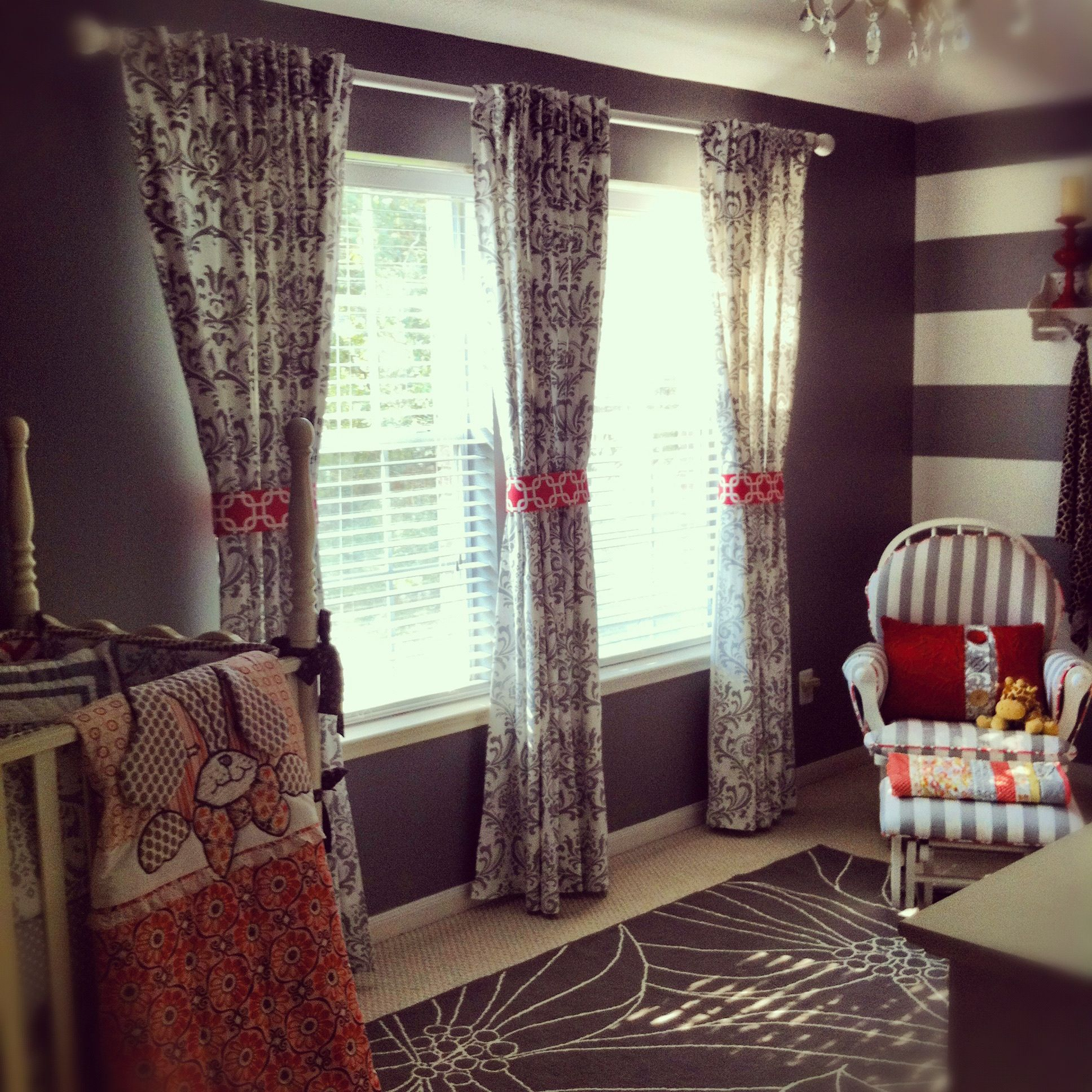 Coral Patterned Curtains Best Design Ideas