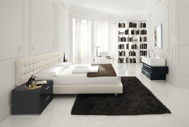 Bedroom Color Ideas Using White Modern White Bedroom With Black Accents