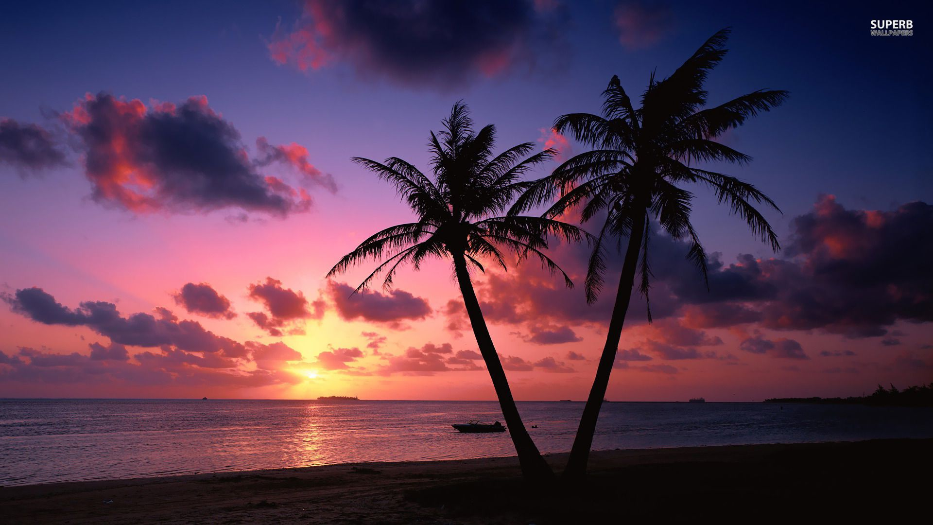 Ocean Sunset Hd Wallpaper 1366x768 6760 Beach Sunset Wallpaper Sunset Wallpaper Sunset Landscape