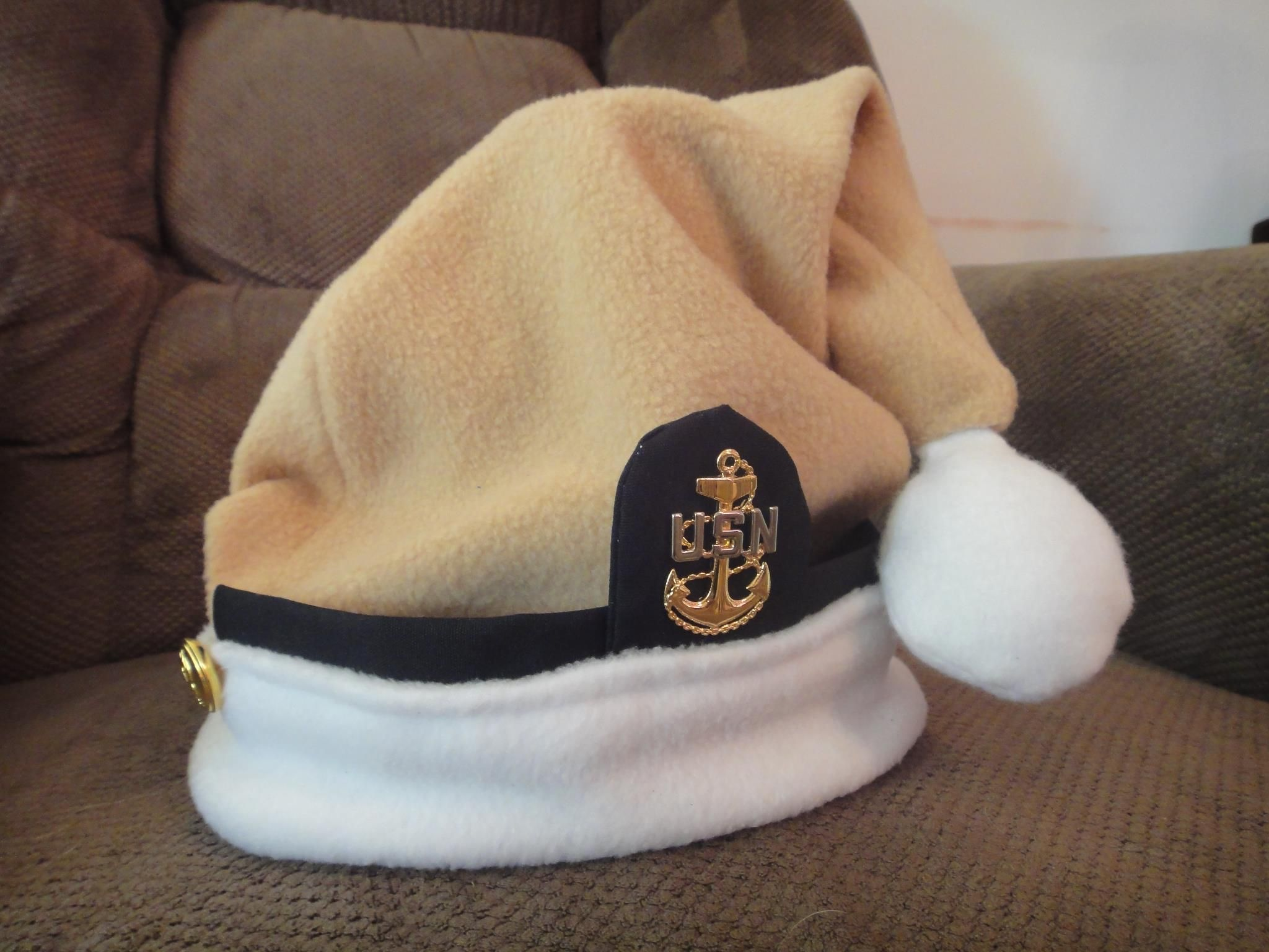0cc436800861b Navy Chief Santa hat