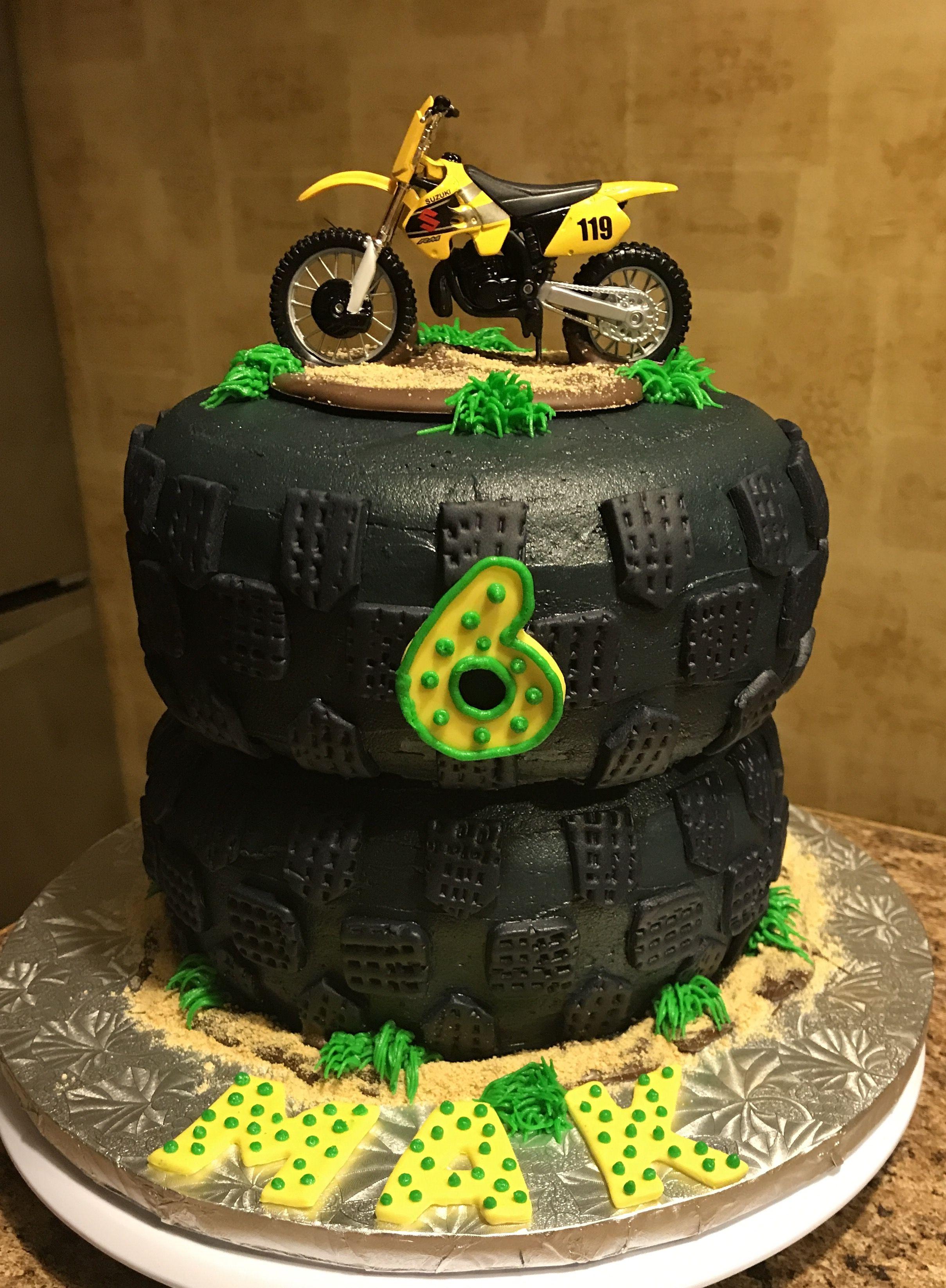Awe Inspiring Dirt Bike Birthday Cake Dirt Bike Birthday Cake Birthday Cards Printable Trancafe Filternl