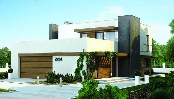 Plano de casa contempor nea de 3 dormitorios y 2 pisos for Diseno de casa de 180 metros cuadrados