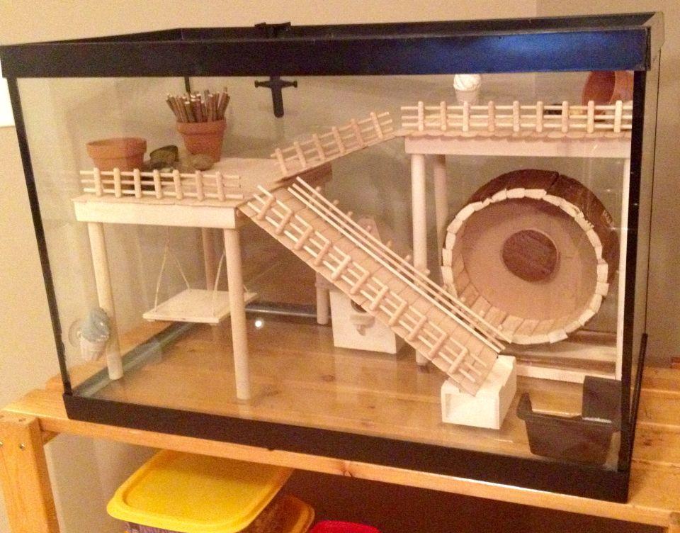 Hamster Cage Diy Aquarium Conversion Diy Aquarium Hamster Cage Hamster