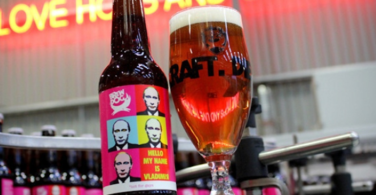 Sochi Olympics Protest Beer Scotland Based Craft Brewery Brewdog Has Released Hello My Name Is Vladimir A Protest Beer Craft Beer Brewing Beer Brewery