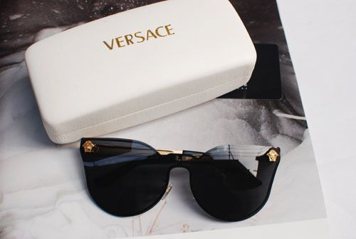 9f4a746bba9e VERSACE VINTAGE-STYLE CAT EYES VE 2120 MATT GOLD SHADES | My Style ...