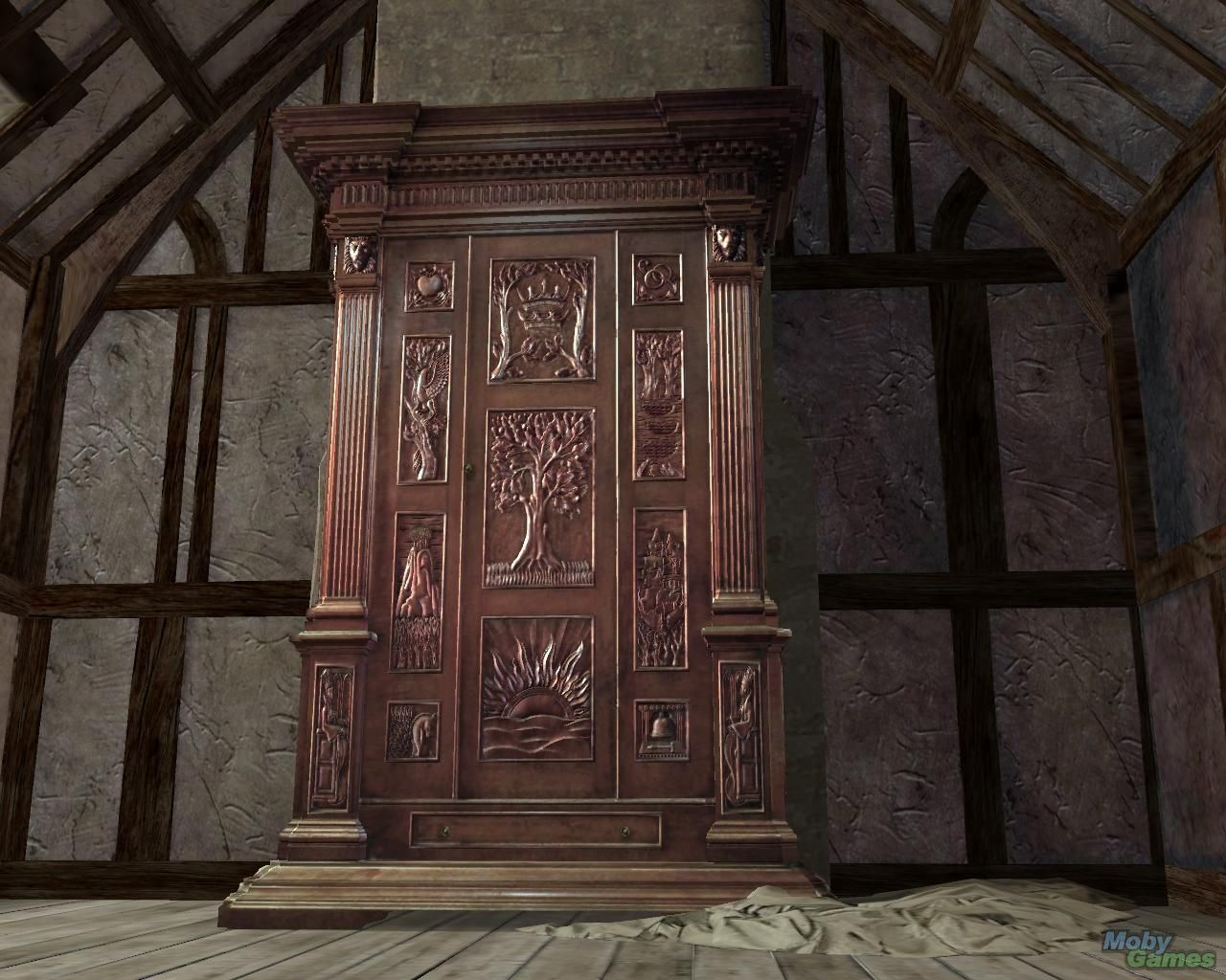 The wardrobe is the best part! I'm going to put it in front of a doorway without trim and have a whole in the back so you can go into the lamp post room through the wardrobe =D yay!