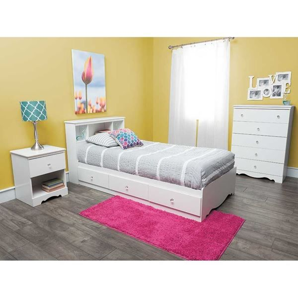 Complete Crystal Bedroom By South Shore Industries Is Now Available At American Furniture W Yellow Bedroom Decor Interior Design Bedroom Kids Bedroom Furniture