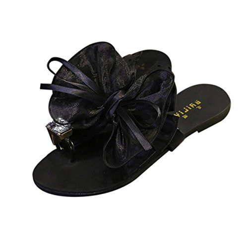 19f8b3c53 Summer Women Bow Tie Flower Flat Sandals Casual Fashion Flip Flops Shoes  Beach Shoes     Find out more about the great product at the image link.