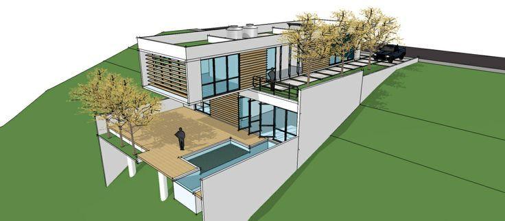 Casa En Pendiente Buscar Con Google Sloping Lot House Plan Architecture Minimal House Design