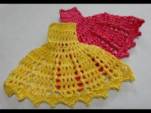 Passo a Passo Vestido de Crochê para Aplicação - Barrado - Parte 3 - YouTube