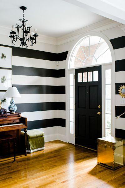 osez les rayures sur les murs idees decoration pinterest oser rayures et mur. Black Bedroom Furniture Sets. Home Design Ideas