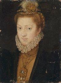 Bildnis der Erzherzogin Maria von Innerösterreich, Prinzessin von Bayern by Austrian School 1617