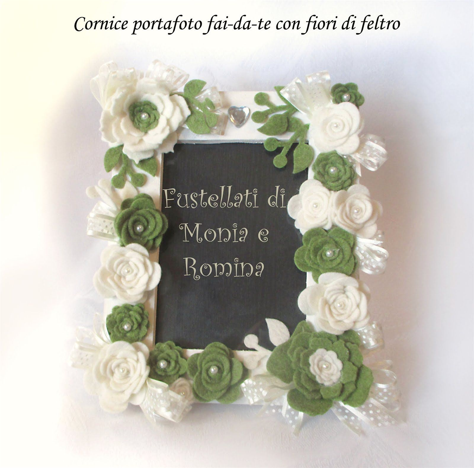 Bomboniera rose feltro fiori pannolenci rametto fustellati for Fai da te creativo