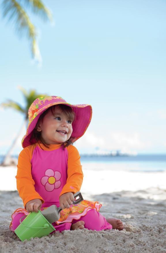2999e89e08 The ruffled swim princess. Coolibar Sun Protection You Wear.   Kid's ...