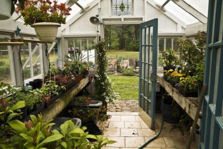 Salvaged window greenhouse by brian koehl koehl a master for Reclaimed window greenhouse